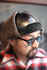 TROPHY CLOTHING/トロフィークロージング  「Horsehide Fright Cap」 ホースハイドフライトキャップ