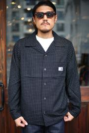 GANGSTERVILLE/ギャングスタービル   「RAMBLE - L/S SHIRTS」  オープンカラーシャツ