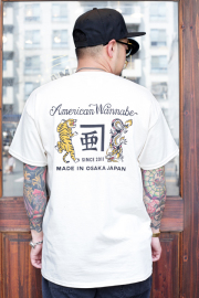 """RUM ART WORKS × AMERICAN WANNABE 「 """"Tiger & Dragon"""" Pocket S/S TEE 」  プリントS/Sティーシャツ"""