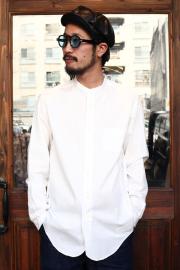 BLACK SIGN/ブラックサイン 「Band Collar Immigrant Shirts」  バンドカラーシャツ