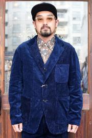 The Stylist Japan/ザスタイリストジャパン   「 INDIGO MIX CORDUROY JACKET 」   コーデュロイジャケット