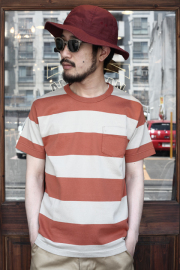 TROPHY CLOTHING/トロフィークロージング  「Wide Border S/S Tee」  ボーダーTシャツ