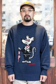WEIRDO/ウィアード 「 CLASSIC RAT - CREW NECK SWEATER 」  クルーネックセーター
