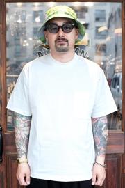 The Stylist Japan/ザスタイリストジャパン 「POCKET SHORT SLEEVE CUT AND SEAW 」  コットン S/S ポケットTシャツ