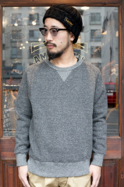 TROPHY CLOTHING/トロフィークロージング  「Salt & Pepper Freedom Sweat」  ソルトアンドペッパースウェット