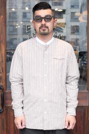 The Stylist Japan/ザスタイリストジャパン 「STAND COLLAR STRIPE SHIRT」  スタンドカラーストライプシャツ