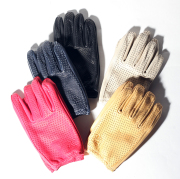 Lamp gloves/ランプグローブス  「Deer Punching glove -Shorty-」  パンチングショートレザ-グローブ