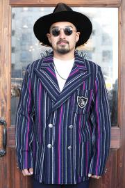 The Stylist Japan/ザスタイリストジャパン 「 MULTI  STRIPE KNIT WB JACKET 」 マルチストライプニットダブルジャケット