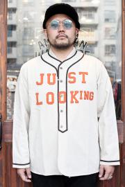 WEIRDO/ウィアード 「 JUST LOOKING - L/S BASE BALL SHIRTS 」  L/S ベースボールシャツ