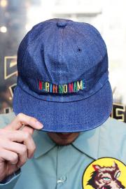 NORTH NO NAME/ノースノーネーム 「 BRAND NAME CAP 」 6パネルデニムキャップ