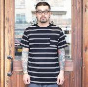 TROPHY CLOTHING/トロフィークロージング  「 Multi Border Pocket S/S Tee 」  マルチボーダーS/STシャツ