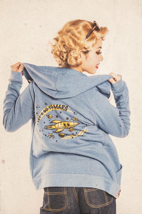 Miss Ladybug/ミスレディーバグ  「LET'S GO TO MARS-ZIP UP HOODE」  ジップパーカー