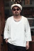 BLACK SIGN/ブラックサイン 「Linen Weather Pull Over Shirts」  リネンプルオーバーシャツ
