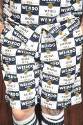 WEIRDO/ウィアード   「WRD CANS - SHORTS」  オリジナル総柄ブロードショーツ