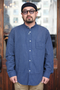 TROPHY CLOTHING/トロフィークロージング   「Band Collar Shirt」  バンドカラーシャツ