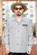 WEIRDO/ウィアード  「 NIGHT SHINE MONSTER - L/S  SHIRTS 」  ストライプシャツ