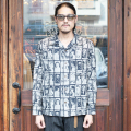 GANGSTERVILLE/ギャングスタービル 「CABINET CARD - L/S SHIRTS」 総柄L/Sシャツ