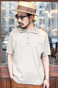 TROPHY CLOTHING/トロフィークロージング  「Broad Stitch Knit Polo」  コットンポロシャツ