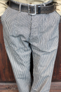 TROPHY CLOTHING/トロフィークロージング  「Continental Work Pants」 ヒッコリーワークパンツ