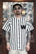 WEIRDO/ウィアード   「WINDY'S - S/S BASEBALL SHIRTS」  ストライプベースボールシャツ