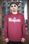 AMERICAN WANNABE/アメリカンワナビーオリジナル  「THE WANNABES」  クルーネック L/S Tシャツ