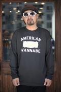 AMERICAN WANNABE/アメリカンワナビーオリジナル  「A Place Of Supply」  クルーネック L/S Tシャツ