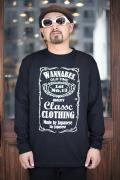 AMERICAN WANNABE/アメリカンワナビーオリジナル  「Old Label」  クルーネック L/S Tシャツ