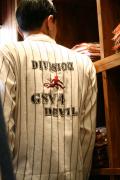 GANGSTERVILLE/ギャングスタービル   「DIVISION - L/S SHIRTS」 ストライプツイルシャツ