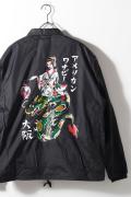 AMERICAN WANNABE/アメリカンワナビー  「 LANTERN GIRL JACKET Art by RUM ART WORKS 」 コーチジャケット
