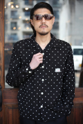 GANGSTERVILLE/ギャングスタービル   「DIAMONDS - L/S SHIRTS」  総柄オープンカラーシャツ