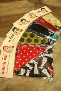QUEEN BEE  「Q.B Reversible Small - bandana」  リバーシブルバンダナ