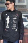 GANGSTERVILLE/ギャングスタービル   「SPEAKESY - L/S SHIRTS」  コットンブロードシャツ