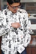 GANGSTERVILLE/ギャングスタービル   「THE REVUE - L/S SHIRTS」  オリジナルドビーシャツ