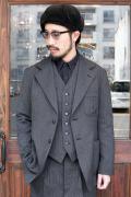 BLACK SIGN/ブラックサイン  「1930s Summer Wool Fog Stripe Sport Back Jacket」 サマーウールスポーツバックジャケット