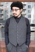 BLACK SIGN/ブラックサイン  「1930s Summer Wool Fog Stripe Noodles Vest」 サマーウールヌードルスベスト