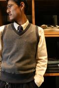 TROPHY CLOTHING/トロフィークロージング  「Tweed Champ Knit Vest」  ツイードニットベスト
