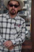 WEIRDO/ウィアード   「R-ES ROBOT - L/S SHIRTS」  ヘリンボーンチェックシャツ
