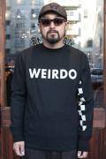 WEIRDO/ウィアード   「AGAIN PINBACK -  L/S  T-SHIRTS」   L/S ティーシャツ