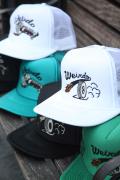 WEIRDO/ウィアード   「PLAQUE - MESH CAP」  オリジナル刺繍メッシュキャップ