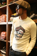 GANGSTERVILLE/ギャングスタービル 「THE SKULL」 L/S TEE