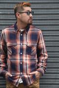 TROPHY CLOTHING/トロフィークロージング  「Logger Indigo Check Shirts」 チェックシャツ