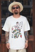 RUM ART WORKS × AMERICAN WANNABE  「 LANTERN GIRL S/S TEE 」   7周年限定ティーシャツ