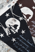 BLACK SIGN×AMERICAN WANNABE  「Black Linen Skull Flag」  スペシャルペナント