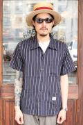 GANGSTERVILLE/ギャングスタービル   「THUG STRIPE - S/S SHIRTS」 コットンテンセルストライプシャツ