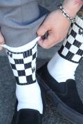 WEIRDO/ウィアード  「TIN CAR CLUB - SOX 」 チェッカ−靴下SET