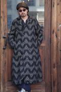 BLACK SIGN/ブラックサイン  「Navajo Jacquard Hit Man Coat」  ナバホジャガードヒットマンコート
