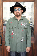 BLOWOUT!! × AMERICAN WANNABE  「HAND PAINT Military Shirts」  ハンドペイントミリタリーシャツ