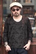 BLACK SIGN/ブラックサイン 「Plants Jacquard Pull Over Shirts」  ジャガードプルオーバーシャツ