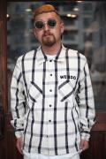 WEIRDO/ウィアード   「ROAD FREAK - L/S SHIRTS」  コットンチェックシャツ
