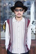 GANGSTERVILLE/ギャングスタービル   「BOULEVARD - L/S SHIRTS」 コットンアクリルニットシャツ